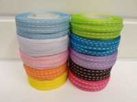 Baby Light Pink 4mm or 10mm Single Centre Stitched Ribbon 2 metres or 50 metre roll Double sided